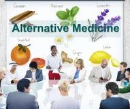 Hälsa Herb Therapy Concept för alternativ medicin fotografering för bildbyråer