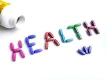 Hälsa kompletterar begrepp Royaltyfria Bilder
