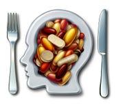 Hälsa kompletterar diet-medicin stock illustrationer