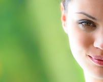 Hälsa och leende Fotografering för Bildbyråer