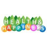 Hälsa och lycka vektor illustrationer