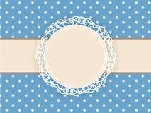 Hälsa retro bakgrund med ramen och prickar 1 kortinbjudan Stock Illustrationer