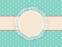 Hälsa retro bakgrund med ramen och prickar 1 kortinbjudan Royaltyfri Illustrationer