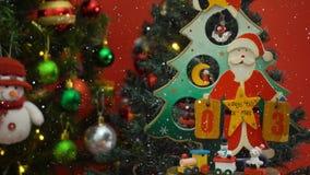 Hälsa säsongbegrepp Santa Claus show 3 dagar kassalådaXmas med Arkivfoton