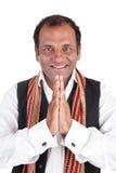 hälsar den indiska mannen Royaltyfri Foto