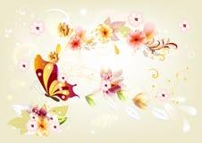 hälsning för butterflekortdesign Royaltyfri Illustrationer