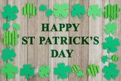 Hälsning för dag för St Patrick ` s Arkivbild