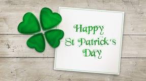 Hälsning för dag för St Patrick ` s Fotografering för Bildbyråer