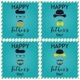 Hälsning för dag för fader` s kort som greeting seten Vektorillustrationer Arkivfoto