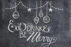 Hälsning för julparti Arkivbilder
