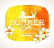Hälsning för sommartid royaltyfri illustrationer