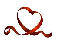 Hälsning garnering, remsa, prydnad, dag som är röd, tecken, vektor, ferie, symbol, beröm, st, kort, gåva, förälskelse, abstrakt b Royaltyfria Foton