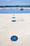 Hälsning till solen - solpanelskulptur i Zadar, Kroatien Royaltyfria Bilder