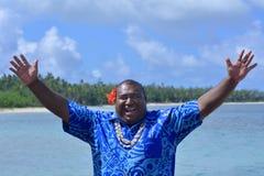 Hälsningar Bula för Fijianmanhälsning arkivfoton