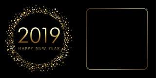 2019 hälsningar för en xmas för lyckligt nytt år Royaltyfri Bild