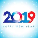 2019 hälsningar för en xmas för lyckligt nytt år royaltyfri illustrationer