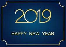 Hälsningar 2019 för lyckligt nytt år royaltyfri illustrationer