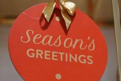 Hälsningar för säsong` s Arkivbilder