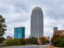 Hälsningar från Winston-Salem, North Carolina royaltyfri foto