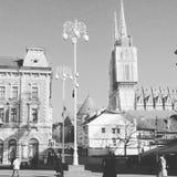 Hälsningar från Zagreb Royaltyfri Fotografi