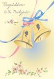 Hälsningbröllopkort Arkivfoton