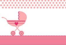 Hälsningen för behandla som ett barn fött med strolleren Royaltyfria Bilder