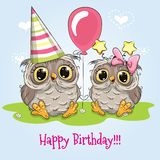 Hälsningfödelsedagkort royaltyfri illustrationer