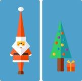 Hälsningillustration för jul och för nytt år Arkivbild