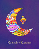 Hälsningkort av den heliga muslimska månadRamadan royaltyfri illustrationer