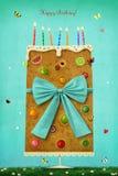 Hälsningkort för födelsedag vektor illustrationer