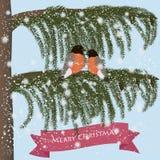 Hälsningkort för glad jul Arkivbild