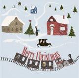 Hälsningkort för glad jul Royaltyfria Foton
