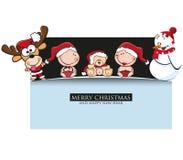 Hälsningkort för glad jul Fotografering för Bildbyråer