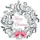 Hälsningkort för glad jul stock illustrationer