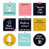 Hälsningkort för glad jul Arkivfoton