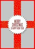 Hälsningkort för glad jul, illustrationdesigner Royaltyfria Bilder