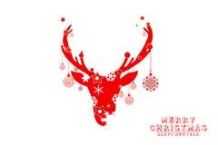 Hälsningkort för glad jul, illustrationdesigner Royaltyfri Foto