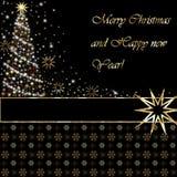 Hälsningkort för glad jul och för lyckligt nytt år Royaltyfria Foton