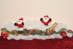 Hälsningkort för jul med utrymme för texter Arkivfoton