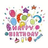 Hälsningkort för lycklig födelsedag Royaltyfri Bild