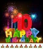 Hälsningkort för lycklig födelsedag Arkivbilder