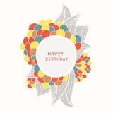 Hälsningkort för lycklig födelsedag Arkivfoto