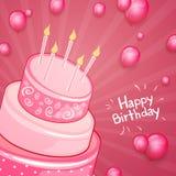 Hälsningkort för lycklig födelsedag royaltyfri illustrationer