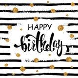 Hälsningkort för lycklig födelsedag, affisch, plakat Arkivfoton