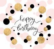 Hälsningkort för lycklig födelsedag och partiinbjudanmall också vektor för coreldrawillustration stock illustrationer