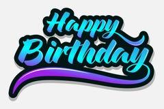 Hälsningkort för lycklig födelsedag för parti royaltyfri bild