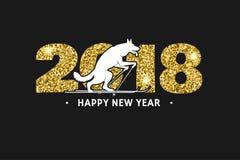 2018 hälsningkort för lyckligt nytt år Arkivfoto