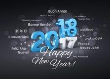 Hälsningkort 2018 för lyckligt nytt år Royaltyfri Bild