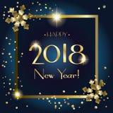 2018 hälsningkort för lyckligt nytt år Royaltyfri Bild