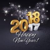 Hälsningkort 2018 för lyckligt nytt år Stock Illustrationer